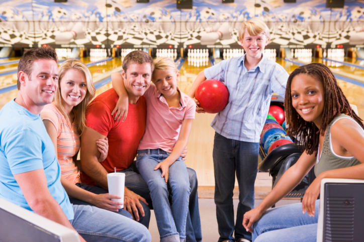 Teenagers Bowling