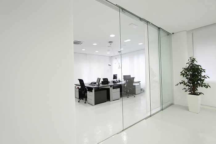 Office With Glass Walls